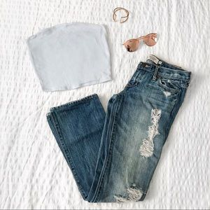 Abercrombie bootcut distressed jeans